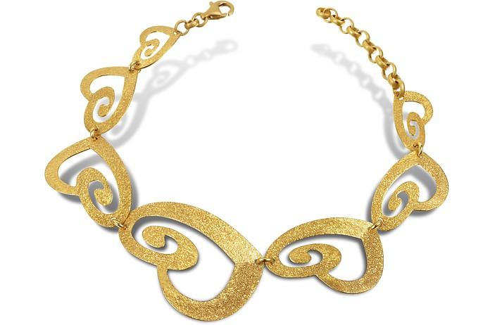 Armband mit Herzanhänger aus vergoldetem Silber - Stefano Patriarchi