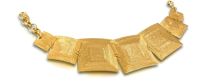 Glieder-Armband aus Sterlingsilber in gold - Stefano Patriarchi