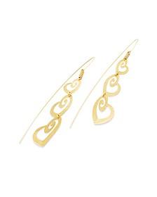 Ohrringe mit dreifach Herzanhängern in vergoldetem Silber - Stefano Patriarchi