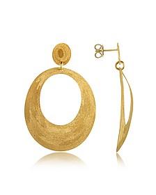 Ohrringe mit ovalem Anhänger in vergoldetem Silber - Stefano Patriarchi
