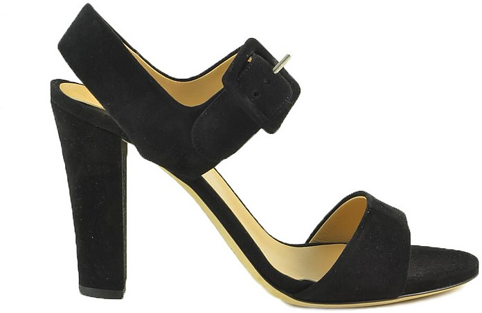 Black Suede High Heel Sandals - Sergio Rossi / セルジョ ロッシ