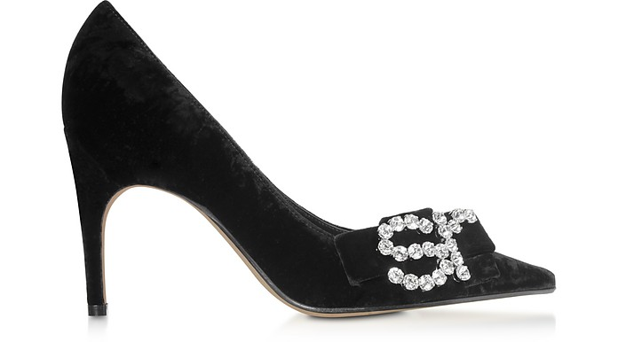 Black Chenille Pumps - Sergio Rossi