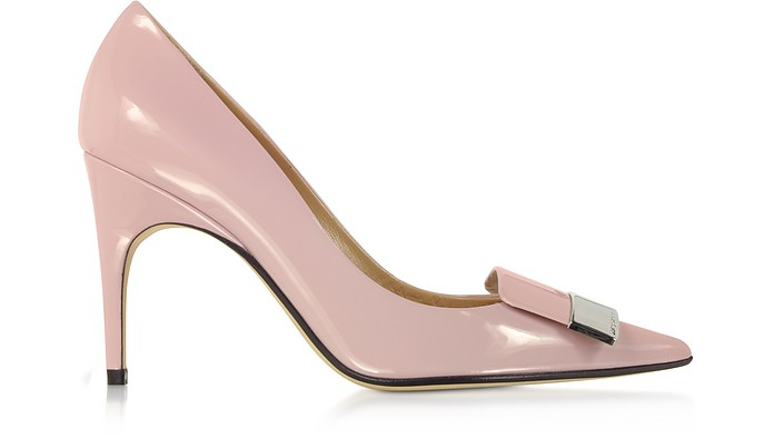 Soft Blush Patent Leather Pumps - Sergio Rossi