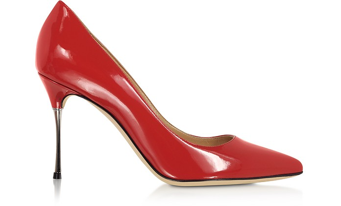 Carminio Red Soft Patent Leather Pumps - Sergio Rossi