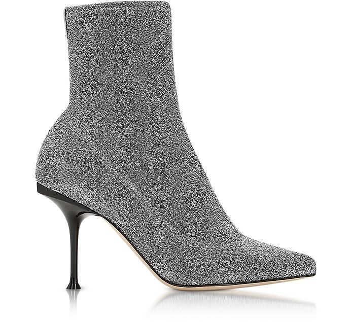 Stretch Lurex Silver Boots - Sergio Rossi