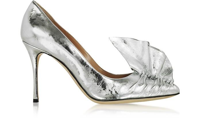 Godiva Silver Crash Lak Décolleté - Sergio Rossi