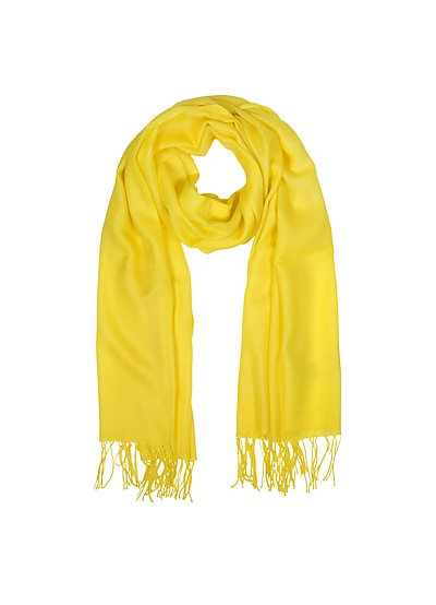 Wool and Cashmere Fringed Stole - Mila Schon
