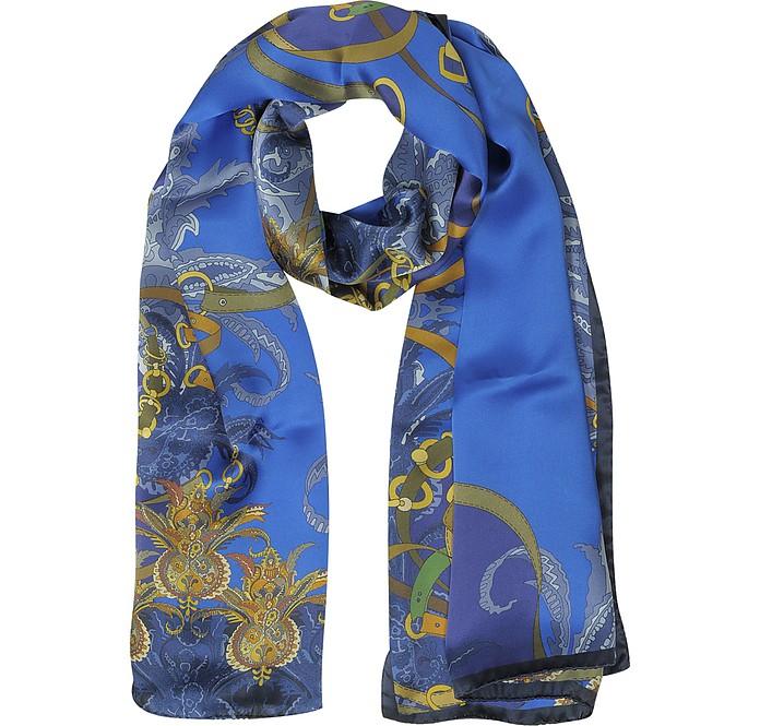 Stola aus Satin-Seide mit Ornamenten und Mustern - Mila Schön