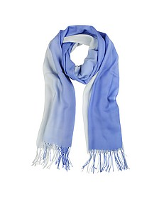 Gradient Blue/Light Blue Wool and Cashmere Stole