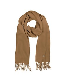 Camel Wool and Cashmere Stole - Mila Schon