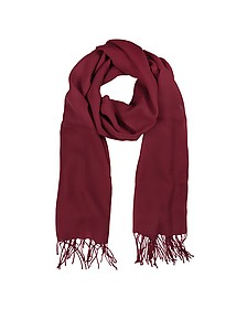 Burgundy Wool and Cashmere Stole - Mila Schon