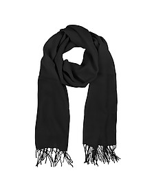 Black Wool and Cashmere Stole - Mila Schon