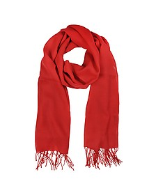 Red Wool and Cashmere Stole - Mila Schon