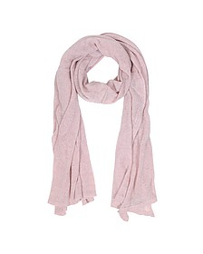Solid Light Pink Wool Blend Stole  - Mila Schon