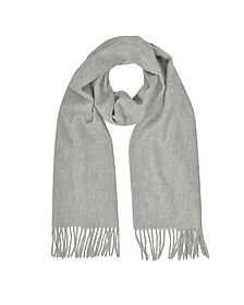 Cashmere and Wool Sand Fringed Long Scarf - Mila Schon