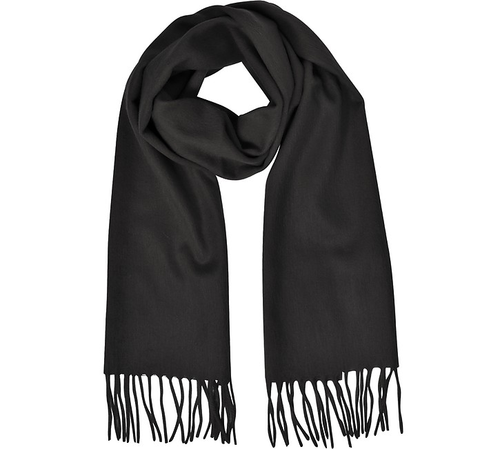 Cashmere and Wool Fringed Long Scarf - Mila Schon