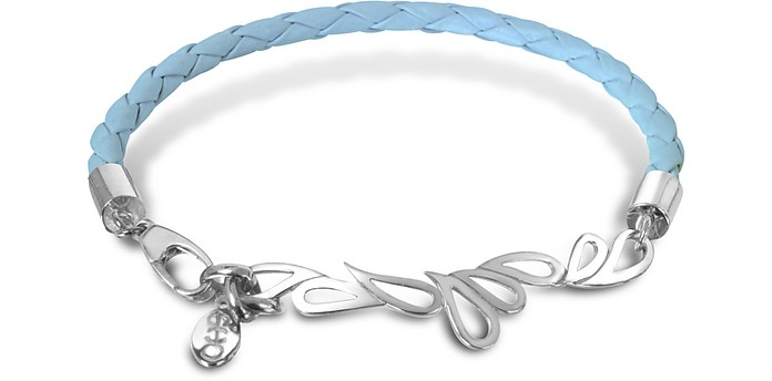 Mari Fiendship Leather and Sterling Silver Bangle - Sho London