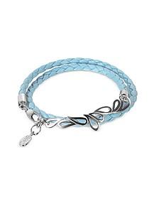 Mari Friendship - Sterling Silver & Leather Double Bracelet - Sho London