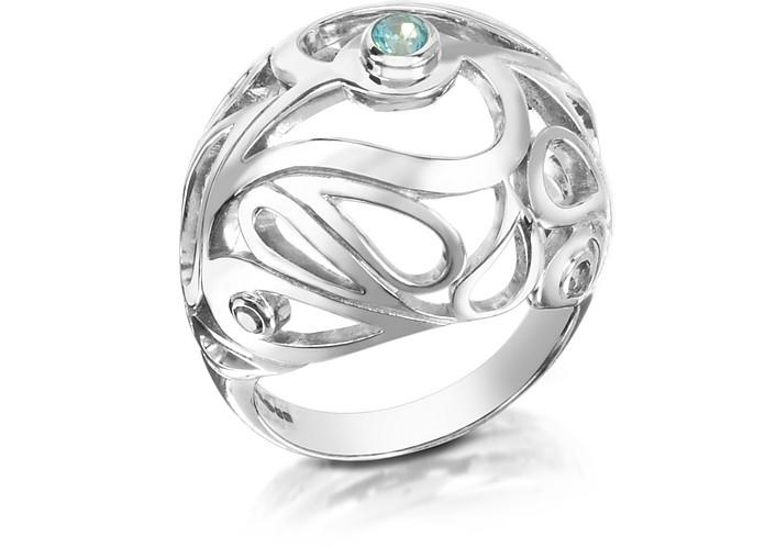 Mari Splash Ring aus Sterlingsilber - Sho London