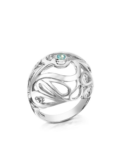 Mari Splash Ring aus Sterlingsilber - Sho London