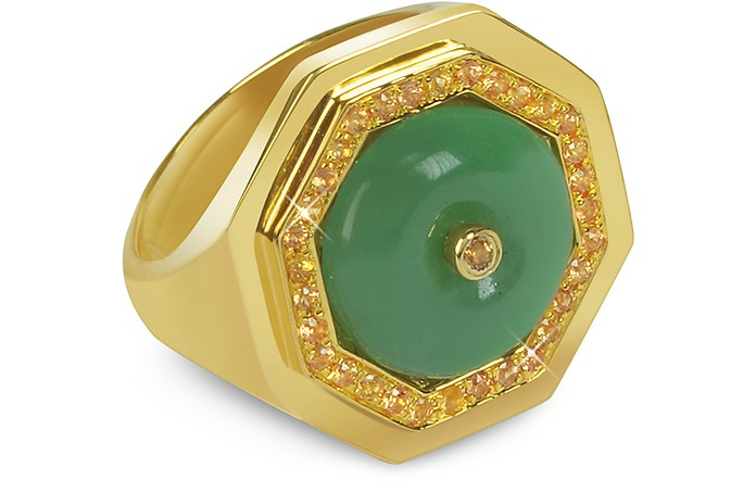 Aventurine Clementina Ring - Sho London