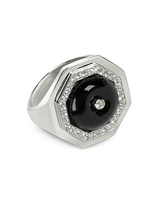 Black Agate Clementina Ring - Sho London