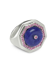 Clementina - Ring aus Sterlingsilber mit Lapislazuli - Sho London