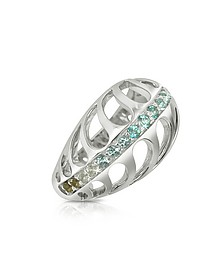 Sterling Silver Mari Rush Ring - Sho London