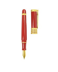 Gladiator Red Fountain Pen - Stipula