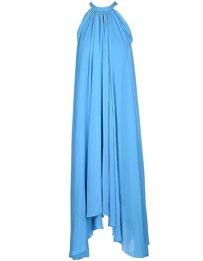 Women's Light Blue Dress - Saloni