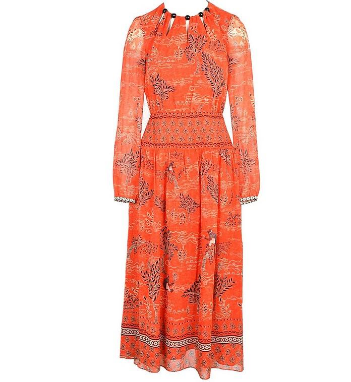 Women's Orange Dress - Saloni