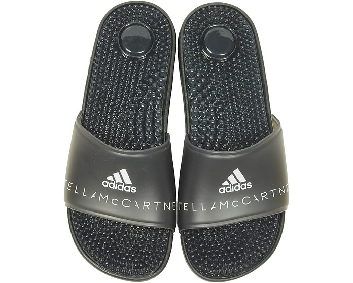75f07d81eac0 Adissage Black Transparent Slide Pool Sandals - Adidas Stella McCartney
