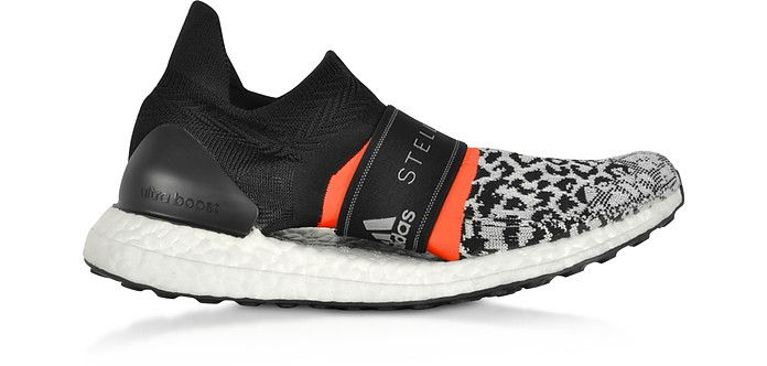 Ultraboost X 3.D Black and White Running Sneakers - Adidas Stella McCartney