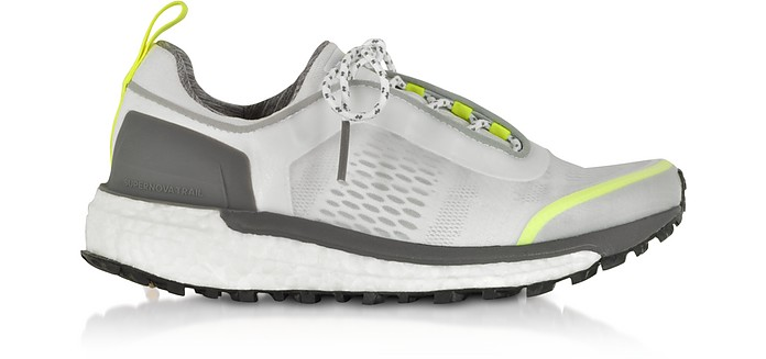 White Solar Yellow Supernova Trail Sneakers - Adidas Stella McCartney