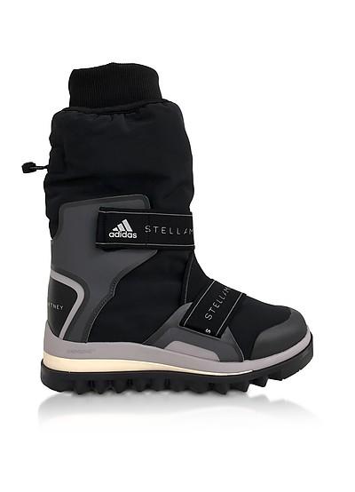 Black and Pearl Gray Winterboots - Adidas Stella McCartney