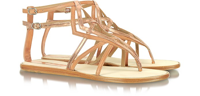 Green - Metallic Leather Flat sandal - Sigerson Morrison