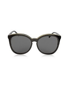SC0074S Acetate Cat-Eye Women's Sunglasses w/Goldtone Chain - Stella McCartney