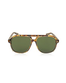 SC0076S Aviator Shield Acetate Women's Sunglasses - Stella McCartney