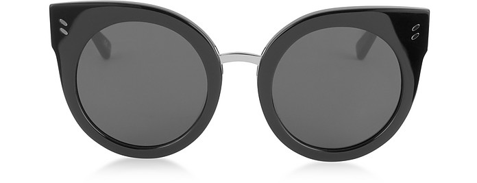 SC0036S Round Cat Eye Acetate Women's Sunglasses - Stella McCartney