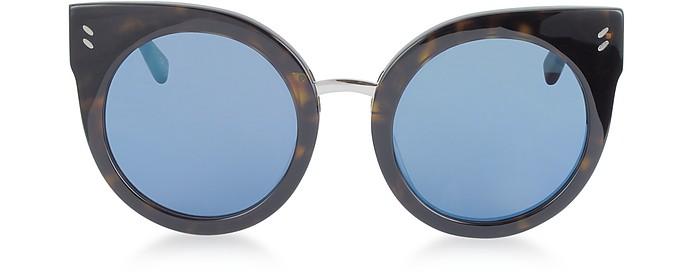 SC0036S Round Cat Eye Acetate Women's Sunglasses - Stella McCartney
