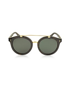 SC0054S Round Aviator Acetate Women's Sunglasses - Stella McCartney
