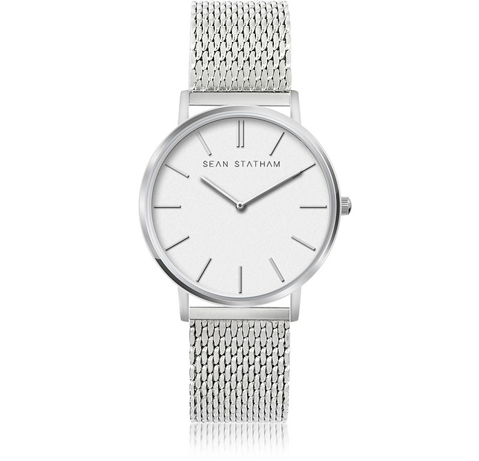 Stainless Steel Unisex Quartz Watch w/White Dial - Sean Statham / ショーン ステイサム