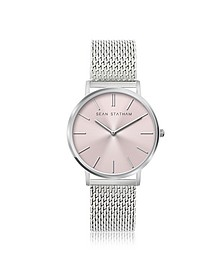 Stainless Steel Unisex Quartz Watch w/Rose Dial - Sean Statham