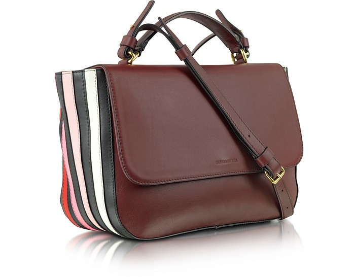 939f8804177 Lucien Mahogany Large Leather Flap Bag - Sonia Rykiel. $868.00 Actual  transaction amount