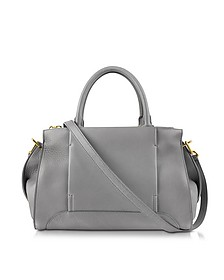 Edgar Graphite Medium Leather Handbag