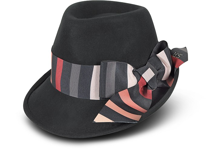 Striped Bow Wool Hat - Sonia Rykiel