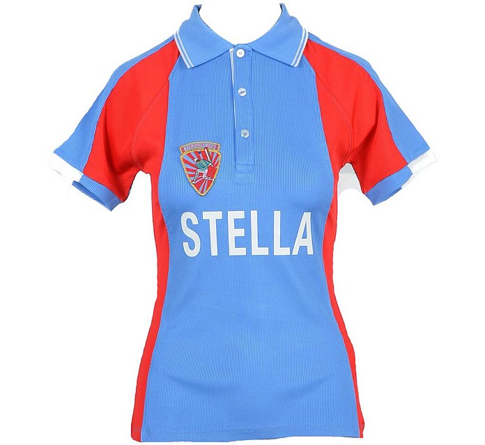 Women's Red Blue Shirt - Stella Jean