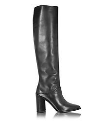 Scrunchy Black Nappa High Heel Boot - Stuart Weitzman