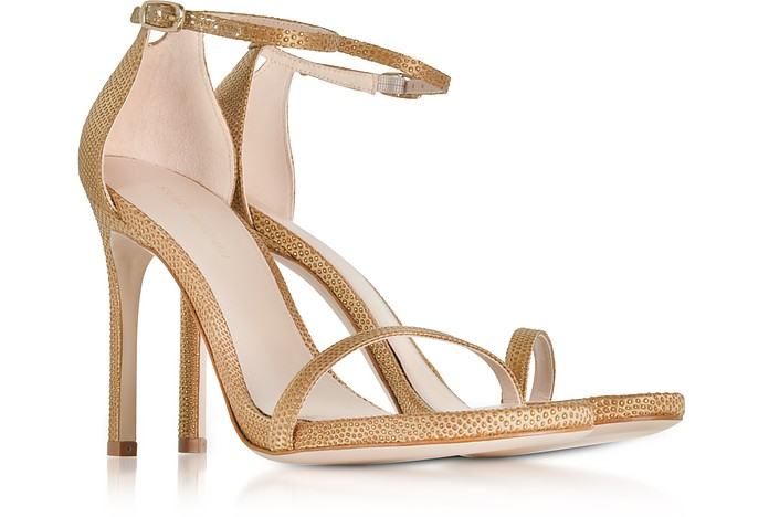 2ea4b182a Nudistsong Gold Crystaline High Heel Sandals - Stuart Weitzman. $172.00  $430.00 Actual transaction amount