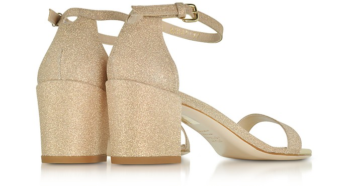 Simple Sandali in Canvas e Nappa con Glitter Stuart Weitzman 40 9wpIw